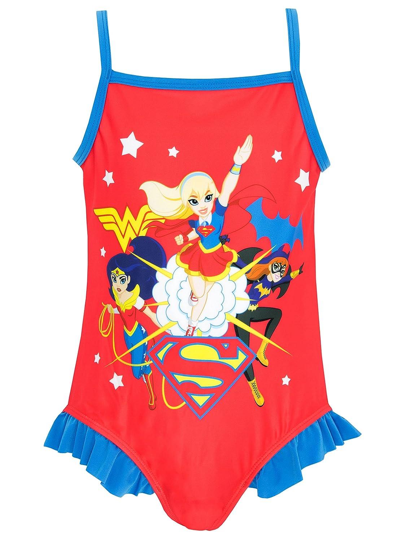 DC Superhero Fille Maillots Une pi/èce DC Superhero