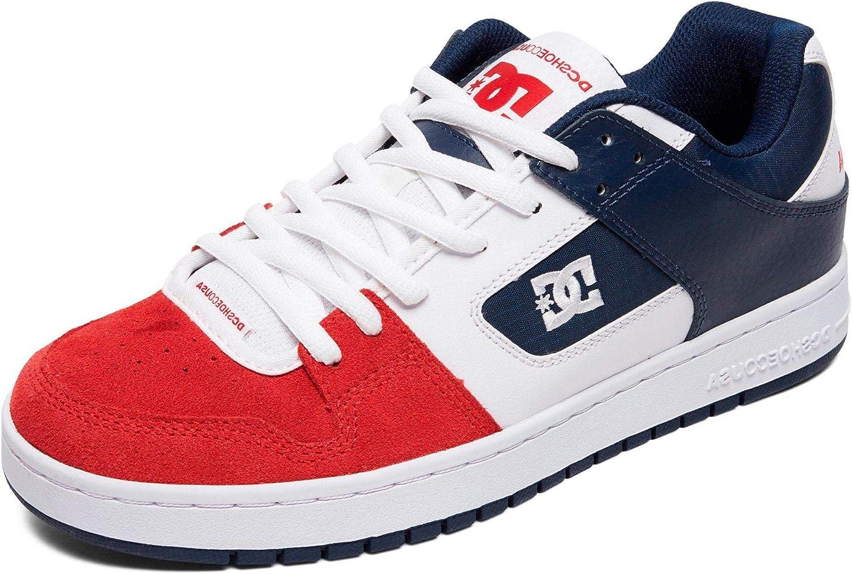 DC White-Navy-Red Manteca Shoe