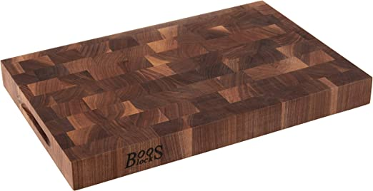 John Boos Walnut Blo Wal Ccb1812 175 Classic Collection Wood End Grain Chopping Block 18 X 12 X 1 75 Kitchen Dining