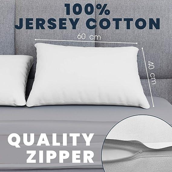 pack de 2 Zippé Satin Taie d/'oreiller 100/% coton 40x60cm Lit bébé Lit Junior Orange