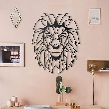 Amazon Com Hoagard Lion Head Xxl Geometric Metal Wall Art 98cm X 122cm Geometric Metal Wall Art Wall Decoration Everything Else