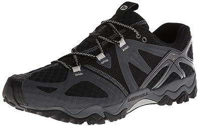 Merrell Men's Grassbow Air Trail Running Shoe,Black/Silver,8 ...