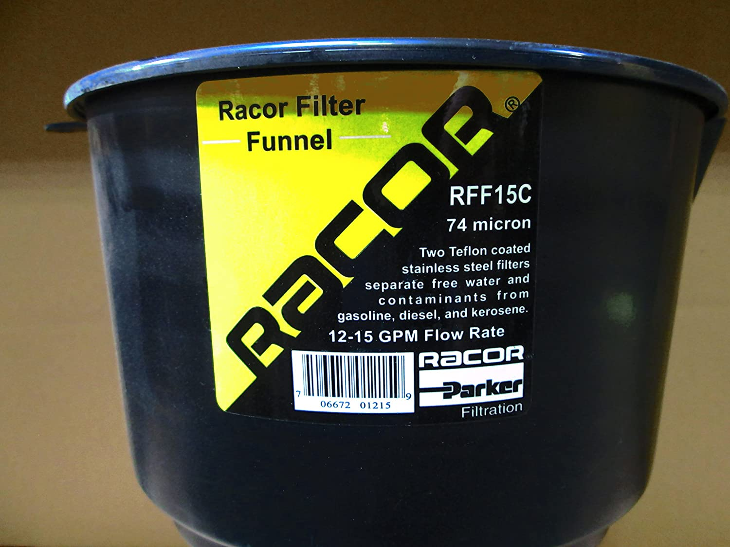 Racor RFF15C Fuel Filter Funnel 15.0gpm 74 Micron High Flow, Fuel System  Tools - Amazon Canada