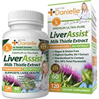 Best Liver Supplements with Milk Thistle - Organic Liver Cleanse Detox & Cleanse - Liver Support for Men and Women…