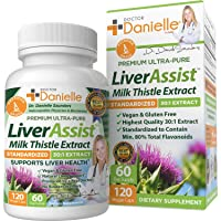 Best Liver Supplements with Milk Thistle - Organic Liver Cleanse Detox & Cleanse - Hangover Prevention and Support for Men and Women - Liver Detox Cleanse Repair - 120 Capsules by Dr. Danielle …