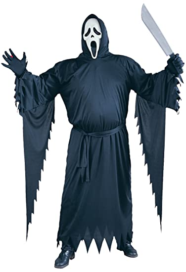Mens 4 Piece Plus Size Official Scream Robe Mask   Gloves Halloween Horror  Film Fancy Dress Costume Outfit XL Extra Large  Amazon.co.uk  Clothing d8ced985b