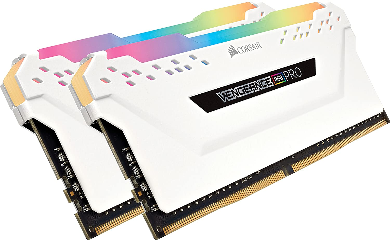 Corsair Vengeance RGB PRO 16GB (2 x 8GB) DDR4 3000MHz C15 XMP 2.0 Enthusiast RGB LED Beleuchtung Speicherkit, weiß CMW16GX4M2C3000C15W