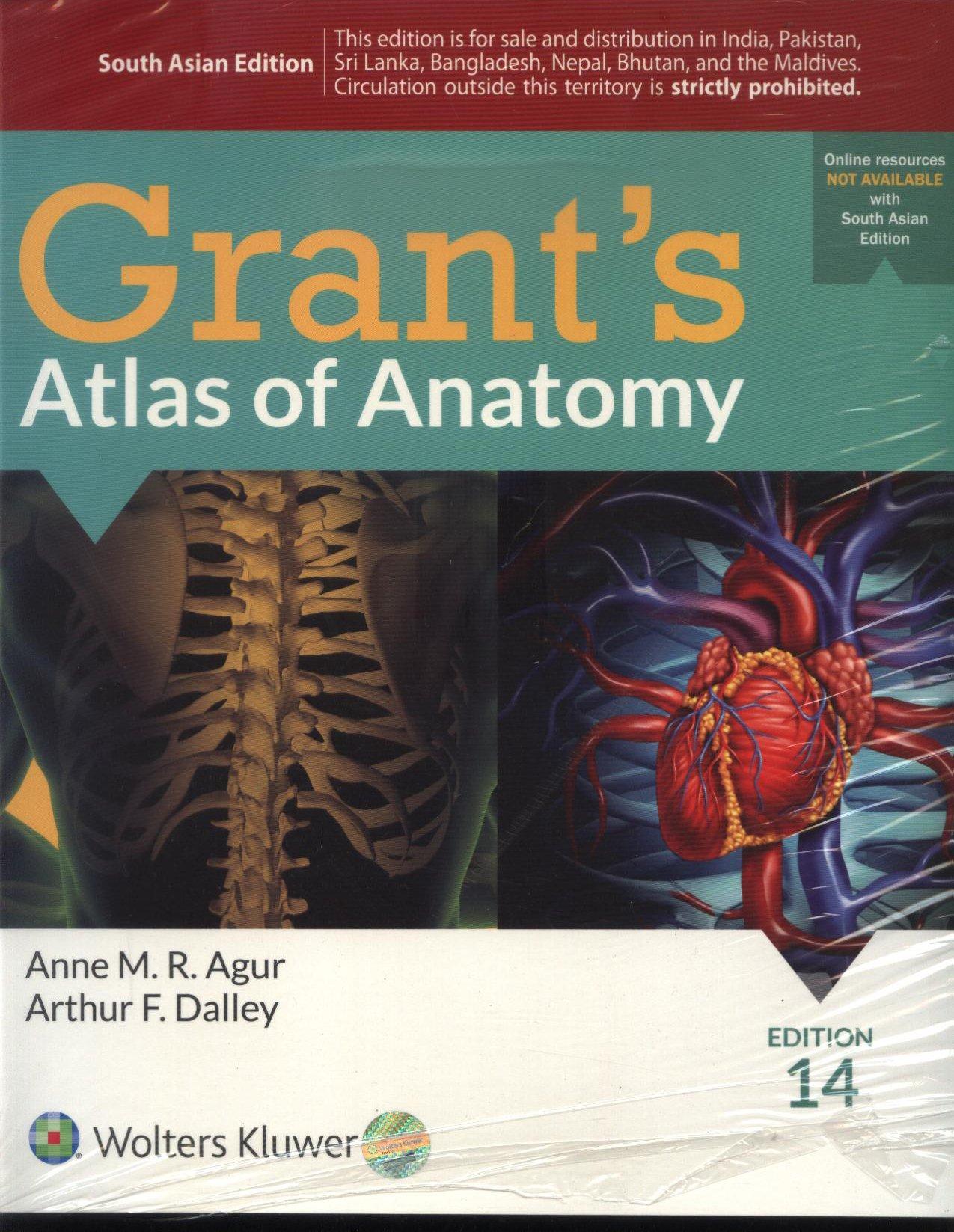 Grants Atlas Of Anatomy 14Ed (Pb 2017): Agur Dalley: 9789351296065 ...