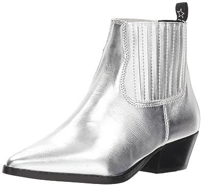 33af9e815f9 Steve Madden Women s Westie Silver Leather 5.5 M ...