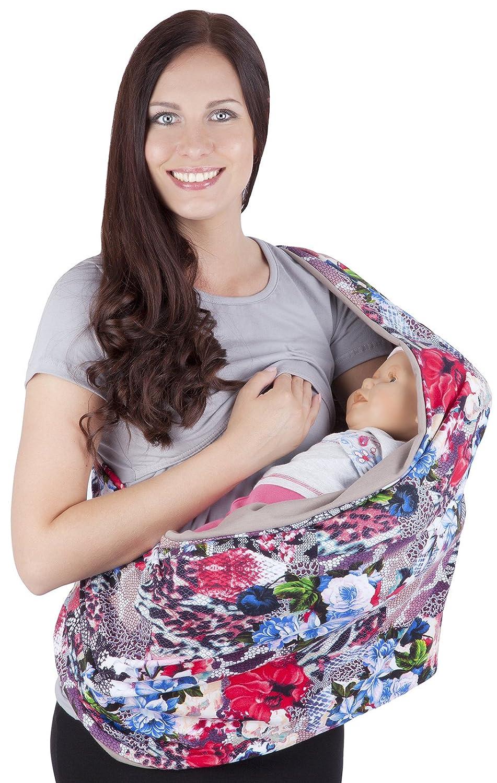 Amazy Stillschal f/ür Mama /& Baby Multifunktionales XL Stilltuch zum diskreten Stillen oder als Autositzbezug Einkaufswagenschutz und Sonnenschutz Blau   Blumen In 5 Designs erh/ältlich