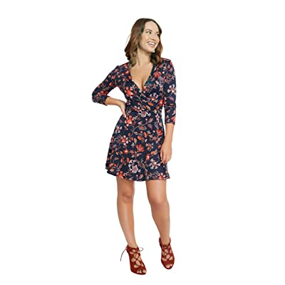 &harmony Women's ¾ Sleeve Dress - Fashionable Fit & Flare - Unique Patterns at Amazon Women's Clothing store