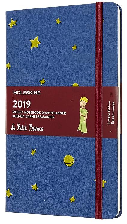 Moleskine DPP12WN3Y19 - Libreta semanal 12m de edición limitada Petit Prince, grande, color azul de amberes