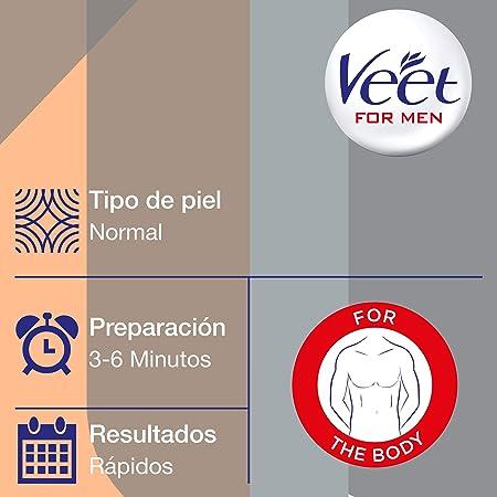 Veet for Men Crema Depilatoria para Hombre - Piel Normal - Pack 3 x 200ml