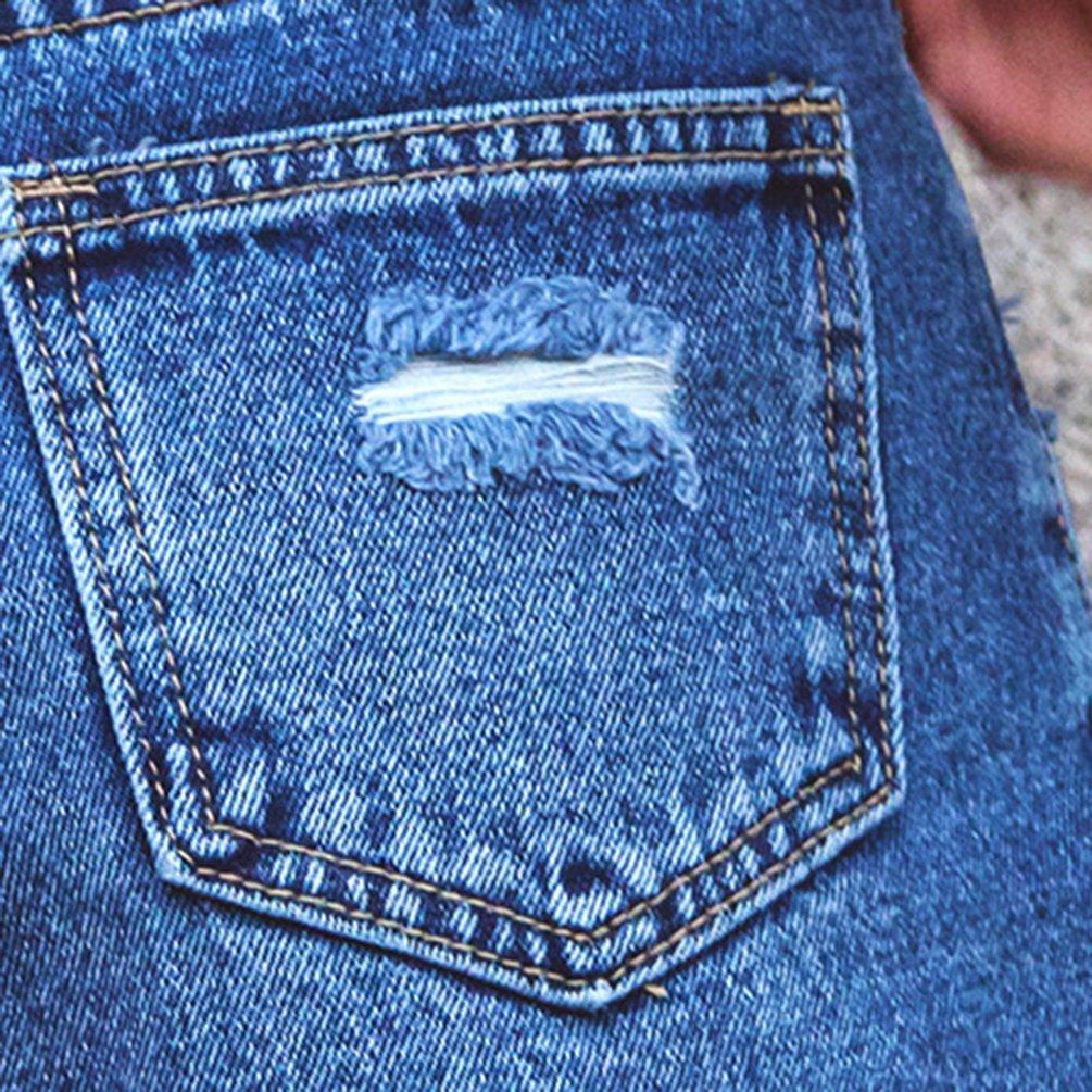 4b68e57c53 Xinwcanga Mujer Shorts Rotos Color Sólido Pantalones Cortos de Mezclilla  Casual Denim Short Pantalon  Amazon.es  Ropa y accesorios