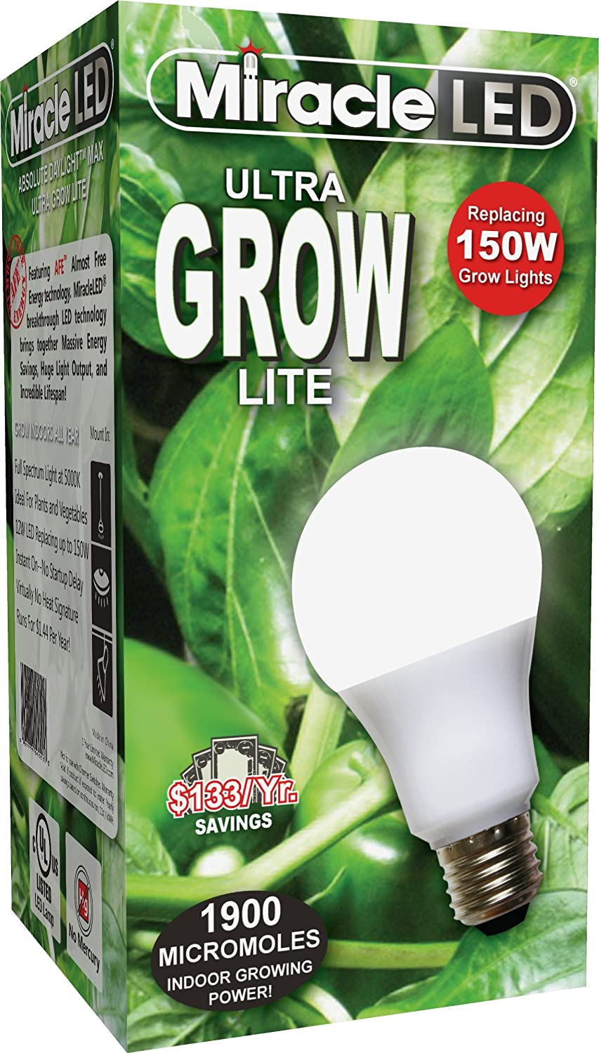 Amazon Com Miracle Led Commercial Hydroponic Ultra Grow Lite