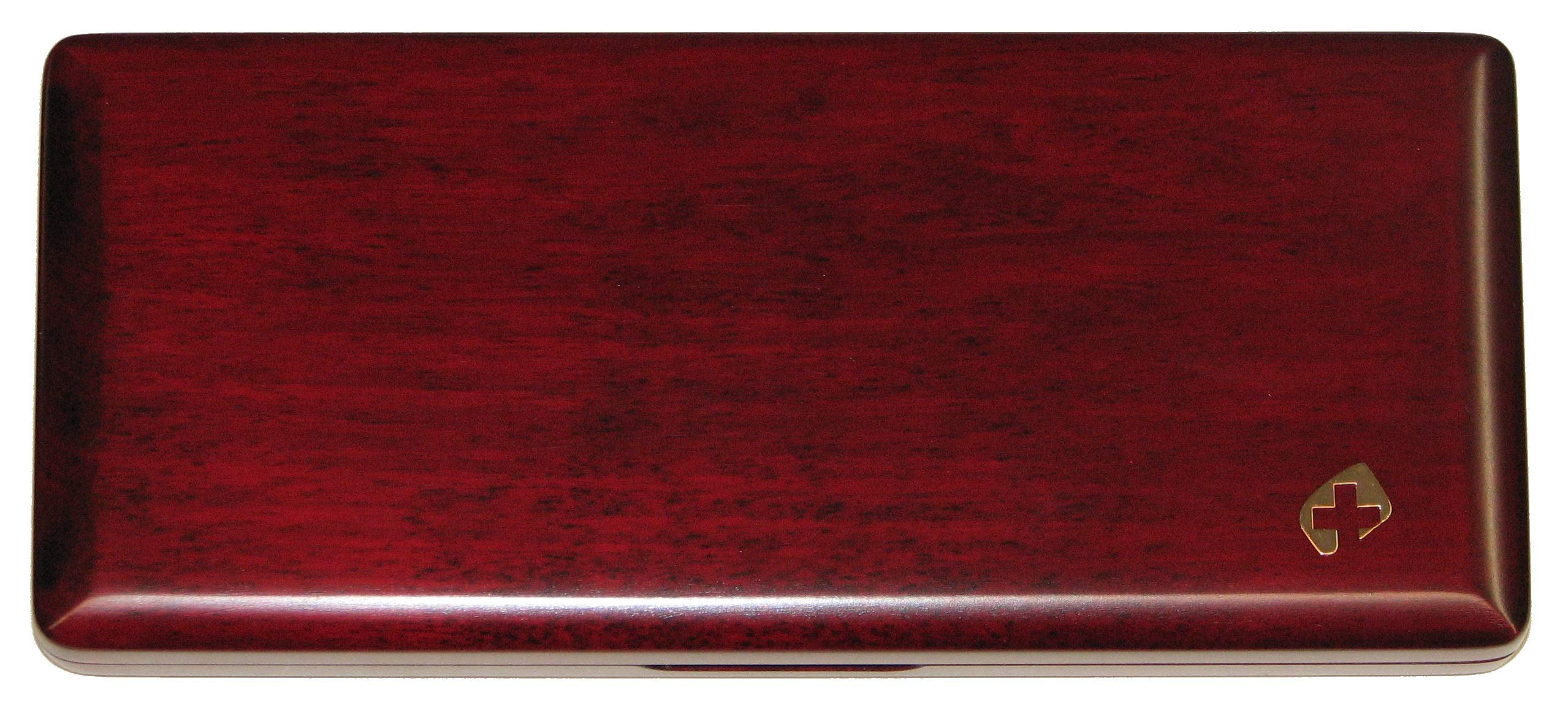 10 Bassoon Reed Case Wood Padauk Thinline by Oboes.ch