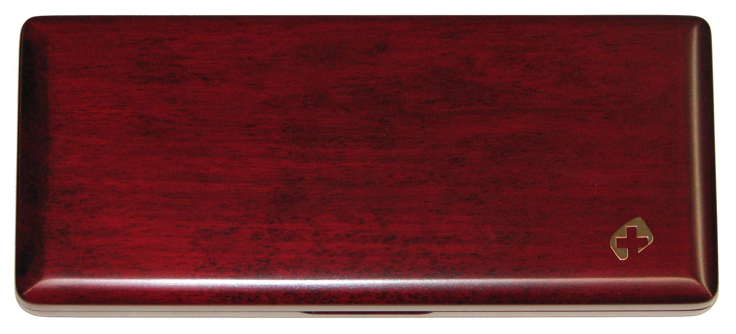 10 Bassoon Reed Case Wood Padauk Thinline