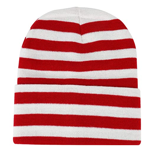 633d784d061b3 Armycrew Red White Stripe Long Cuff Beanie - 1PK at Amazon Men s Clothing  store
