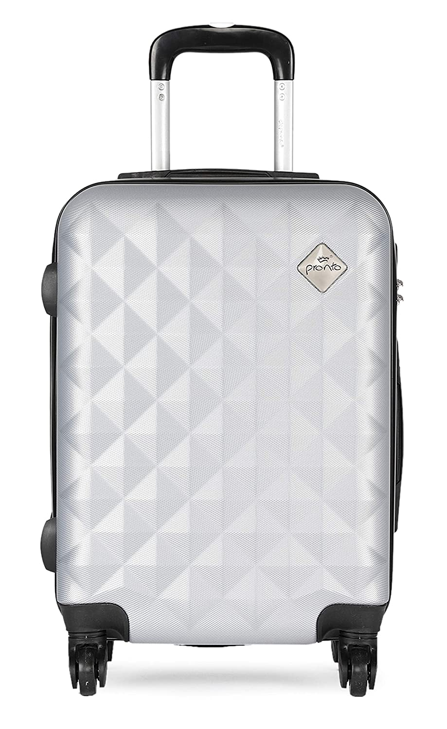 Pronto Naples ABS 55 cms Silver Hardsided Cabin Luggage (7807 - SL)