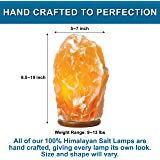 Himalayan Salt Lamp - Natural Hand Carved 100% Authentic Ionic Pink Salt Crystals – 8.5-10 Inches Tall