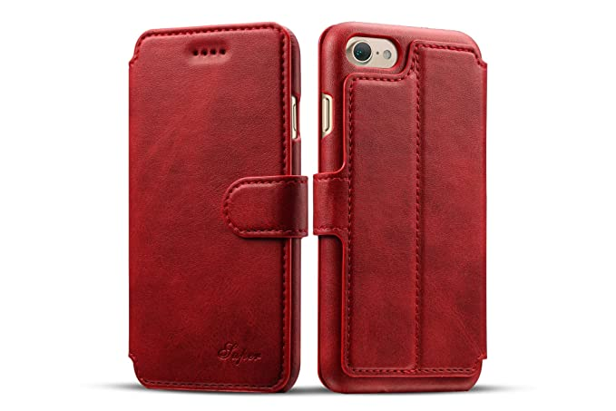Amazon.com: Feitenn - Funda de piel con tapa para iPhone 7 ...