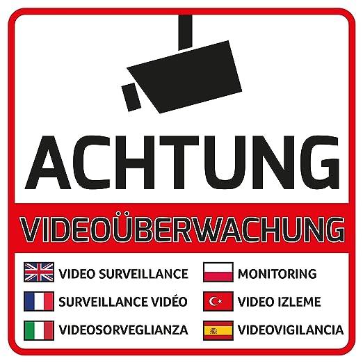 10 Atención Videovigilancia Pegatinas - Adhesivo Atención ...