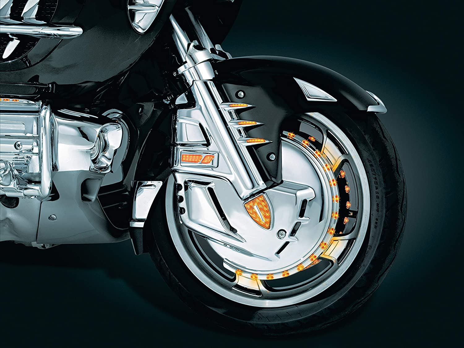 and Valkyrie Motorcycles F6B Kuryakyn 7321 Motorcycle Accessory: Front Fender Accent Tip for Honda Gold Wing GL1800 Chrome