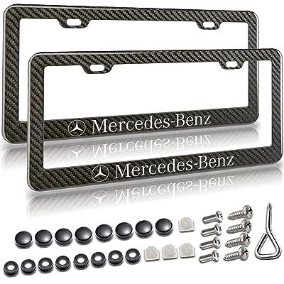 Mercedes Benz License Plate Frame, Carbon Fiber License Plate Frame, License Plate Frame Carbon Fiber, Black License Plate Frame, License Plate Frame Black, Metal License Plate Frame, Plate Frame: Automotive