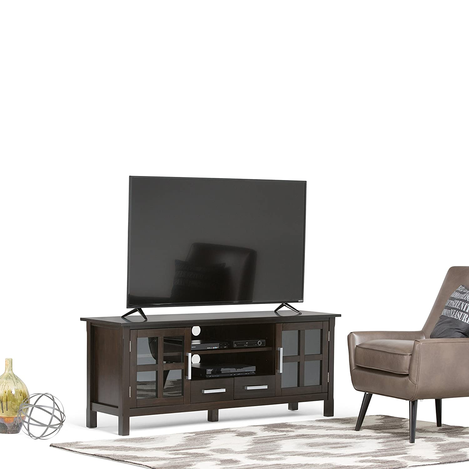 United Furniture Warehouse Kitchener Amazoncom Simpli Home Kitchener Tv Media Stand For Tvs Up To 66