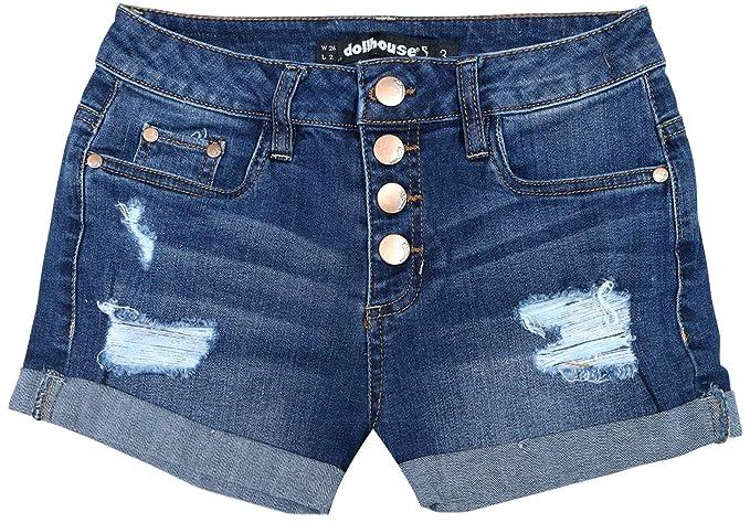 Amazon.com: Dollhouse pantalones cortos de mezclilla de ...
