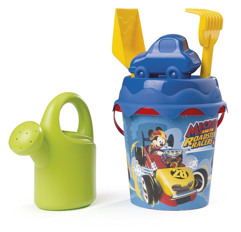 Smoby 862074 Cubo de Playa Completo Mickey y Los Superpilotos