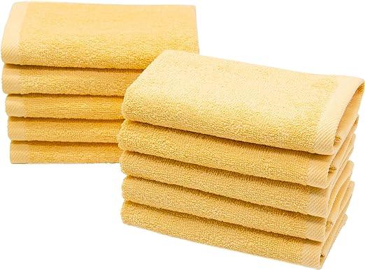 ZOLLNER 10 Toallas para la Cara, 30x30 cm algodón, Amarillo ...