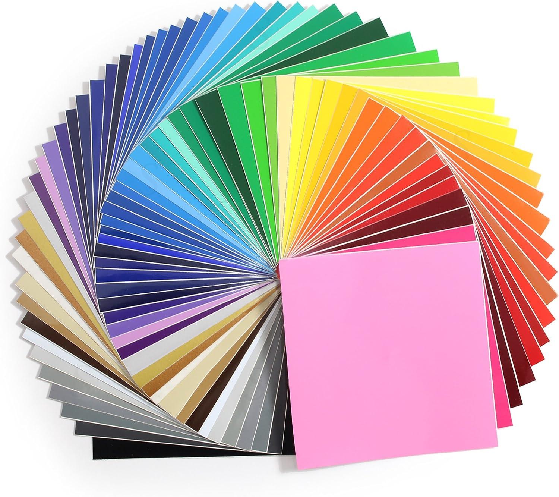 ORACAL Paquete de iniciación 631 Hojas de Vinilo Autoadhesivas (63 Hojas), una de Cada Color para Cricut, Silhouette Cameo, Craft Cutters: Amazon.es: Juguetes y juegos