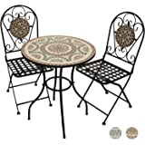 TecTake Mobilier de jardin mosaïque table et chaises meuble bistrot ...
