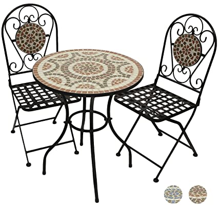 Miraculous Woodside Mosaic Table And Chair Set Terracotta Home Interior And Landscaping Ferensignezvosmurscom