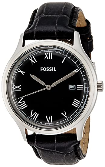 Fossil Ansel Leather Watch - Black