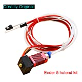 Creality Original 3D Printer Extruder Assembled MK8 Hot End Kit for Ender 5 with Aluminum Heating Block, 1.75mm, 0.4mm Nozzle