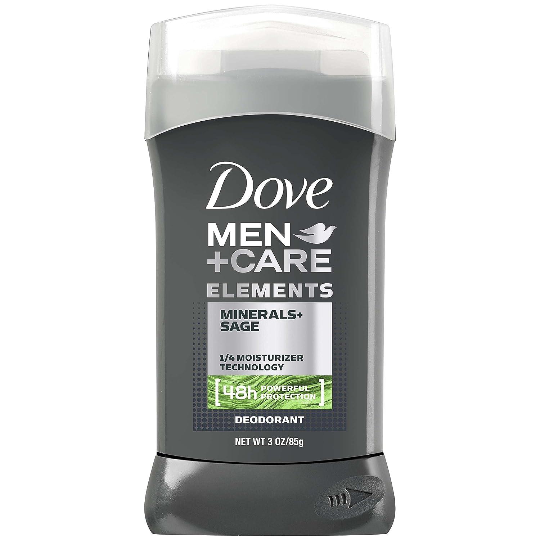 Dove Men+Care Elements Deodorant Stick, Minerals + Sage, 3 Ounce