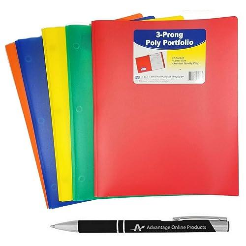 Orange Pocket Folders: Amazon.com