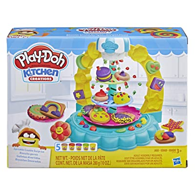 Play-Doh Kitchen Creations Sprinkle Cookie Surprise Play Food Set with 5 Non-Toxic Colors: Toys & Games