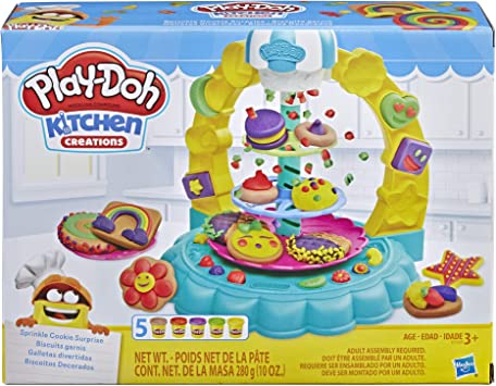 Play-Doh Kitchen Creations Sprinkle Cookie Surprise Play Food Set with 5 Non-Toxic Colors