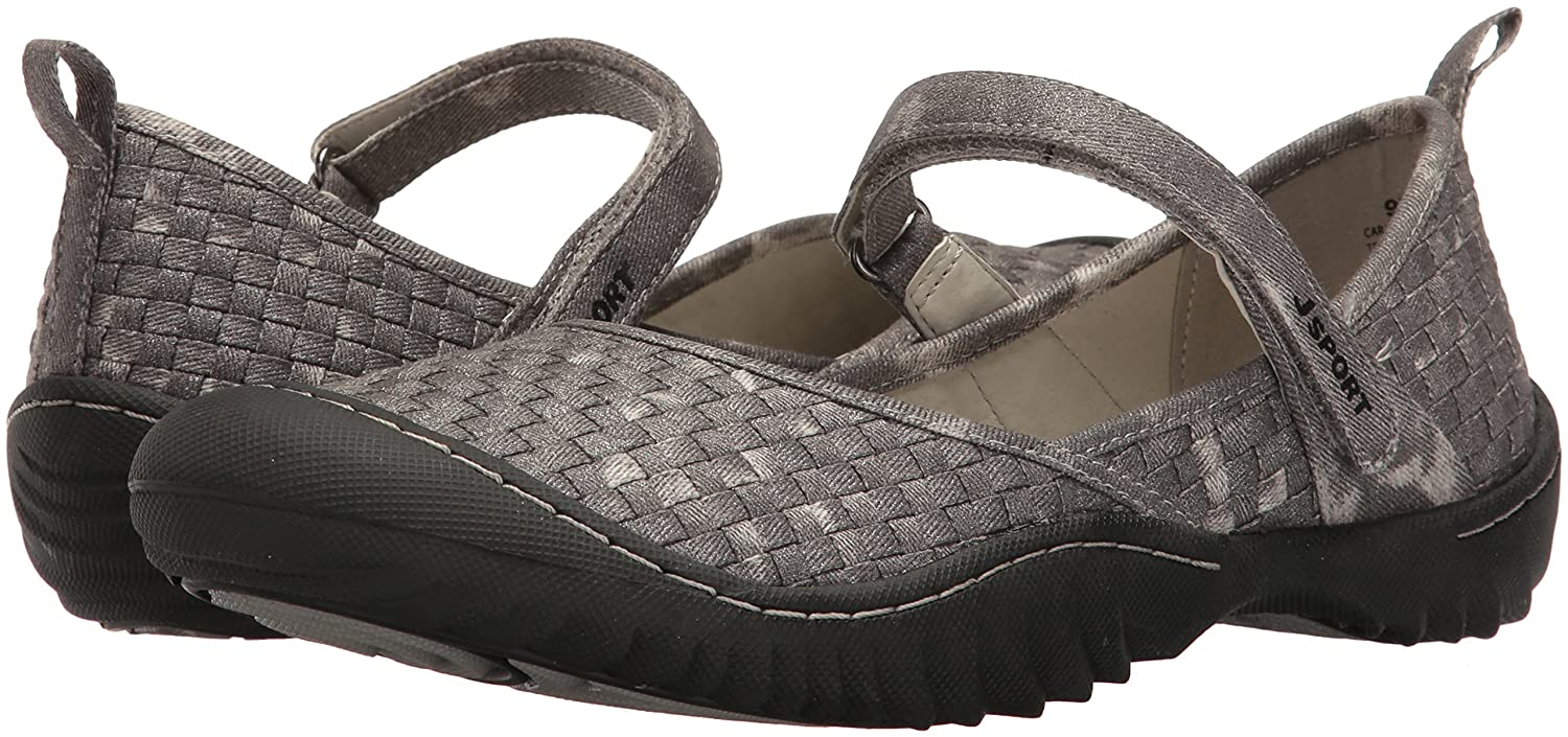 JSport by Jambu Women's Cara Mary Jane Flat B005A99C28 6.5 B(M) US|Gunmetal