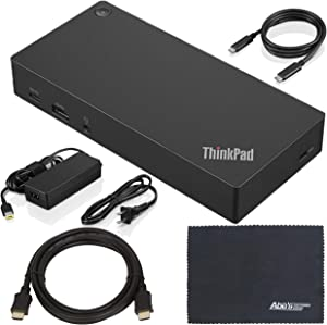 Lenovo ThinkPad (40AS0090US) USB Type-C Dock Gen 2 + ZoomSpeed HDMI Cable (with Ethernet) + AOM Starter Bundle