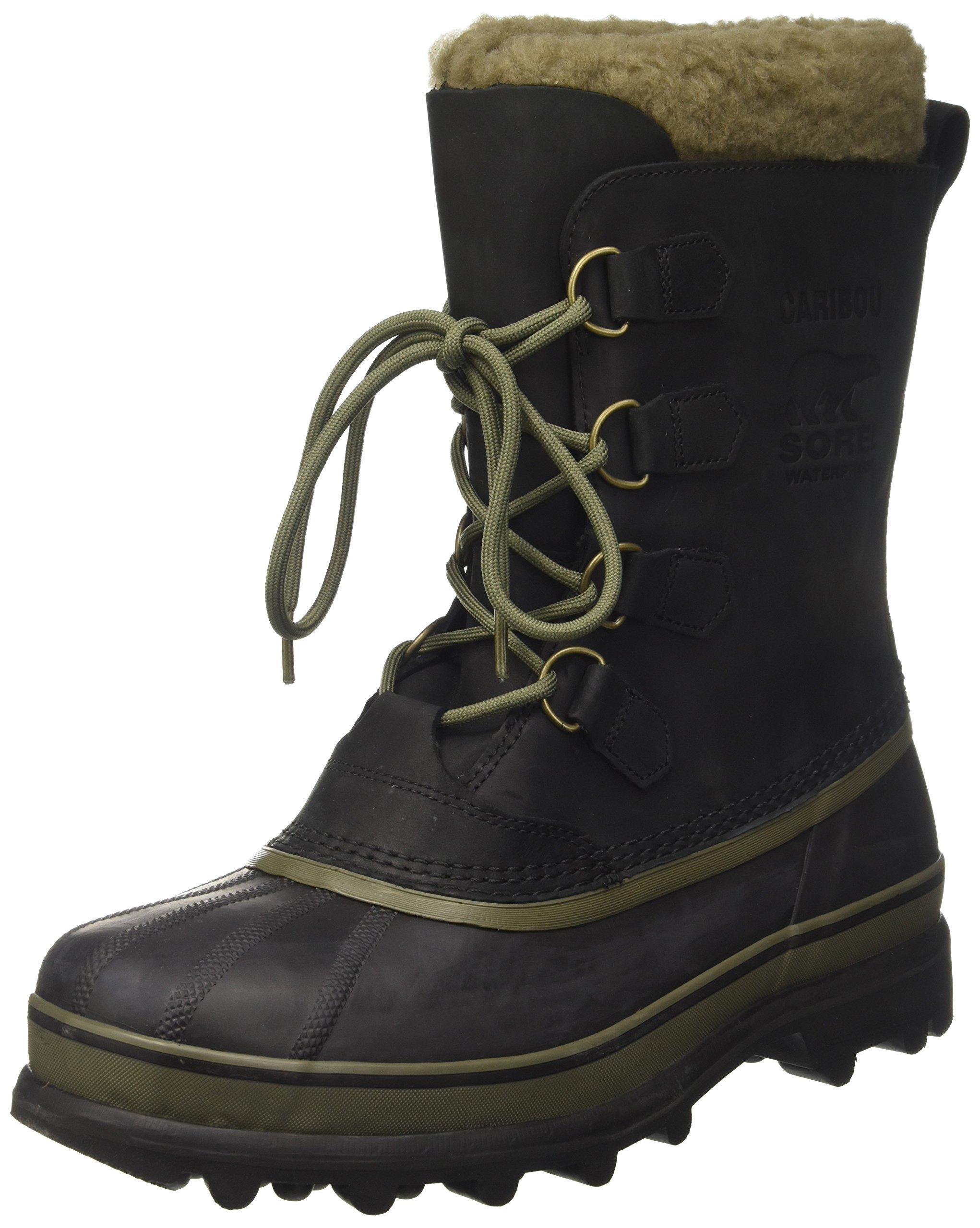 Sorel - Mens Caribou Wl Shell Boot, Size: 11 D(M) US, Color: Black/Nori