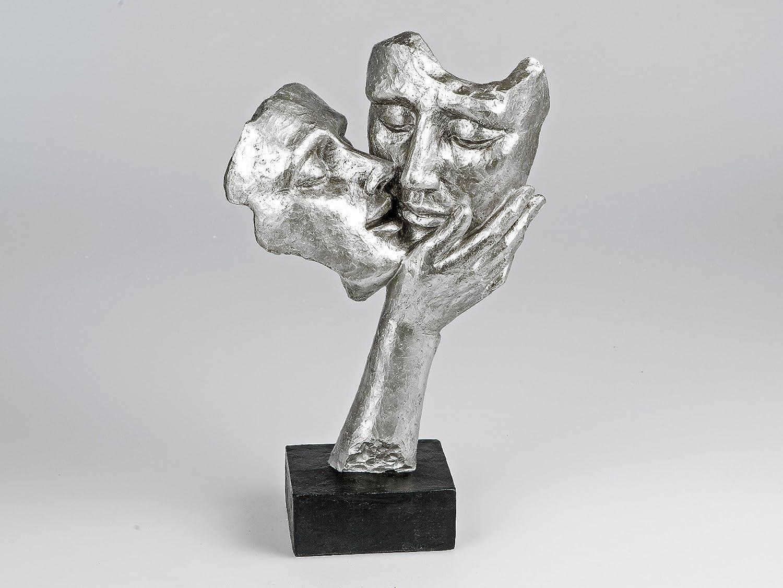Deko Figuren amazon de deko figur kuss moderne büste skulptur paarfigur 38 cm