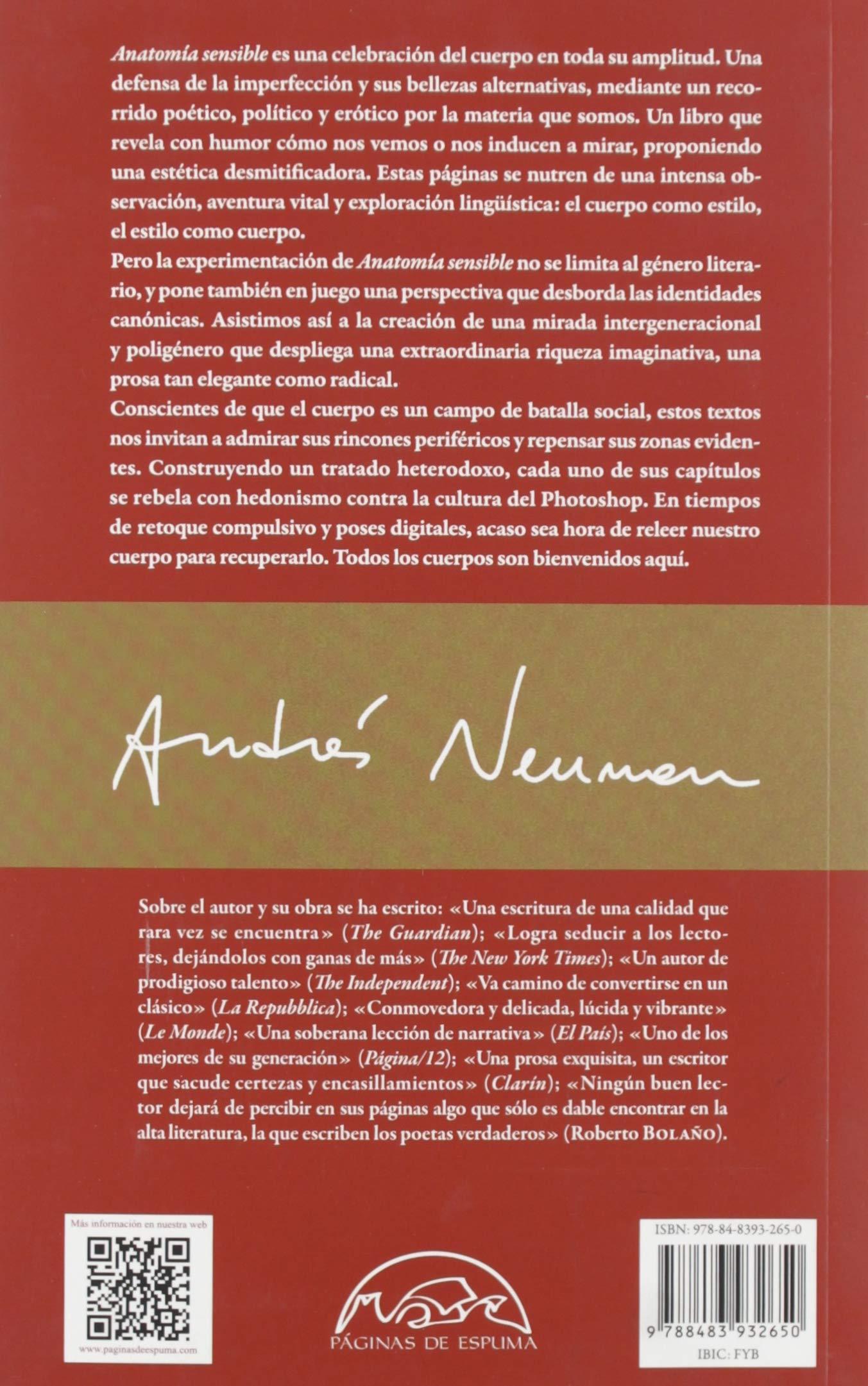 Anatomía sensible: 285 (Voces / Literatura): Amazon.es: Neuman ...