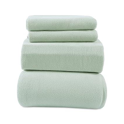 9a5de3508d Amazon.com  Berkshire Blanket Heavyweight Polarfleece Fleece Sheets ...