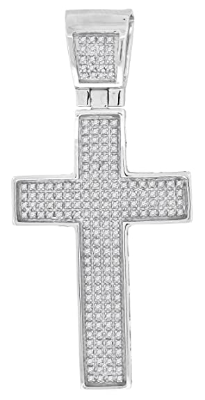 Amazon 050 carat mens micro pave diamond cross pendant 050 carat mens micro pave diamond cross pendant aloadofball Image collections