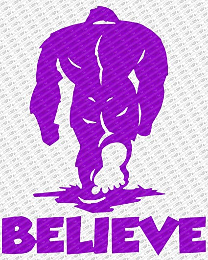 "Bigfoot Believe - Sasquatch ver 1 Logo Die Cut Vinyl Decal Sticker (10"","