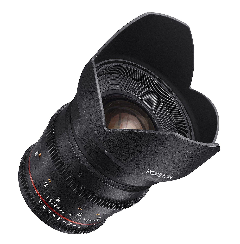 Rokinon ds24 m-c Cine DS 24 mm t1.5 Ed as if UMCフルフレームCine Wide Angle Lens for Canon EF (認定Refurbished)   B075KKZKFS